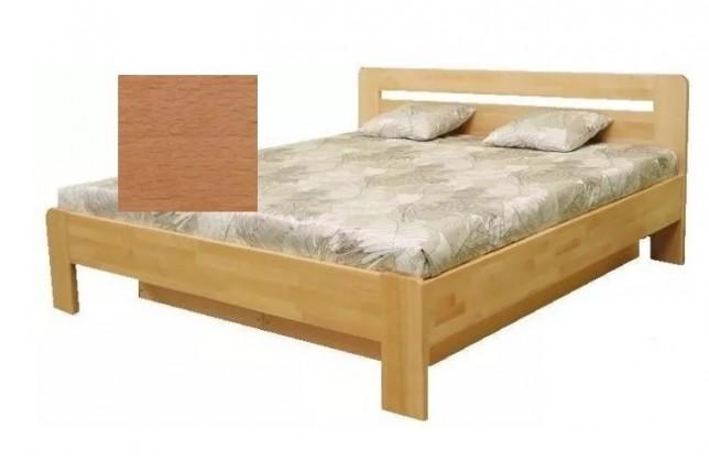 Dřevěné postele Dřevěná postel Kars 2, 180x200, olše, vč.roštu a úp, bez matrace
