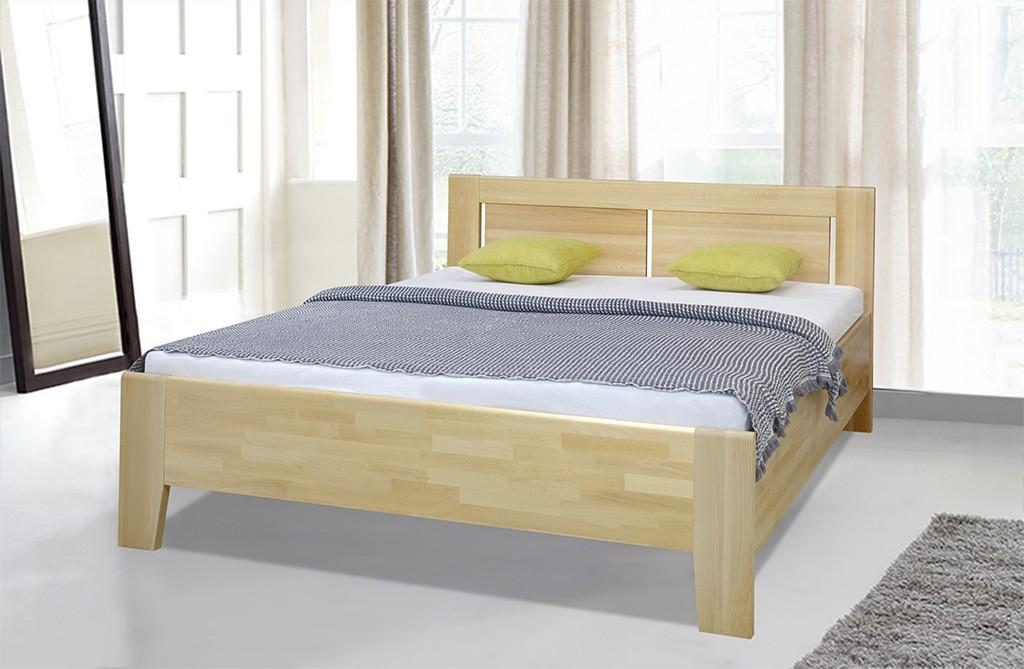 Dřevěné postele Dřevěná postel Noe 180x200, buk