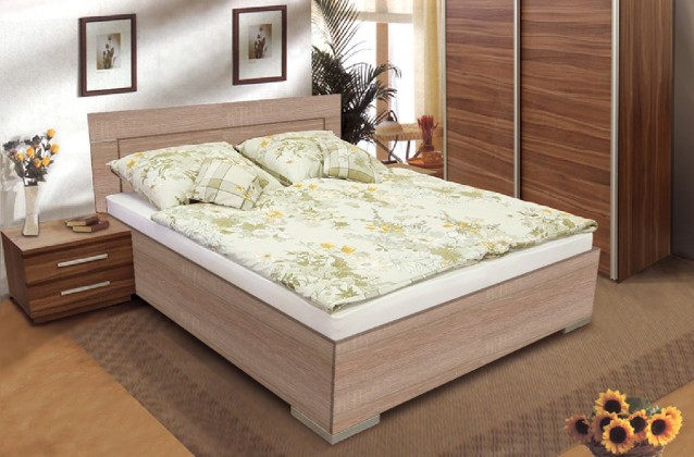 Dřevěné postele Postel Dafne 2, 180x200, vč. výkl. roštu a úp, bez matrace