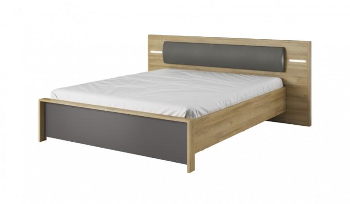 Dřevěné postele Postel Fresco - bez rámu (dub grandson/šedý grafit)