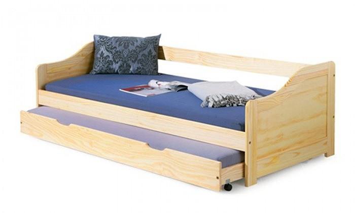 Dřevěné postele Postel Lucie 90x200, borovice, vč. roštu, bez matrace