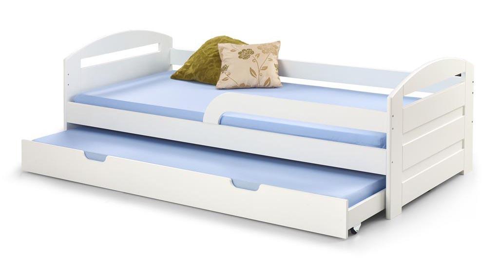 Dřevěné postele Postel Naty 90x200, bílá, bez matrace
