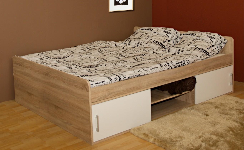 Dřevěné postele Postel Sáva II, 120x200, vč. úp, bez roštu a matrace