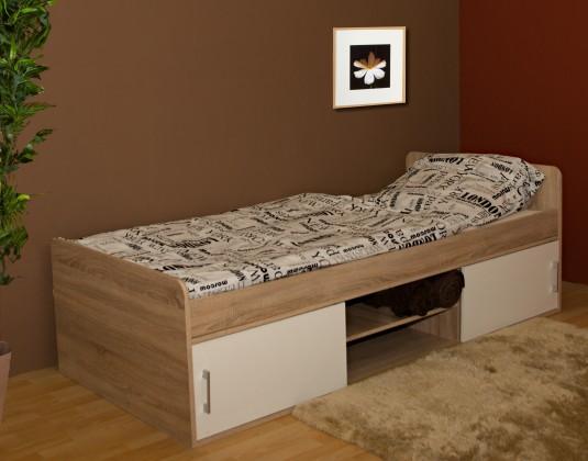 Dřevěné postele Postel Sáva II, 90x200, vč. úp, bez roštu a matrace