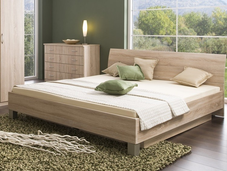 Dřevěné postele Postel Uno 180x200, vč. roštu a úp, bez matrace