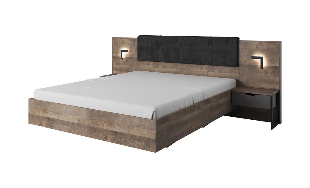 Dřevěné postele Rám postele Laura 160x200 cm (dub grande pískový/matera)