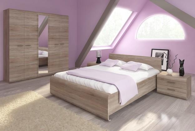Dřevěné postele Rám postele Link 160x200, dub