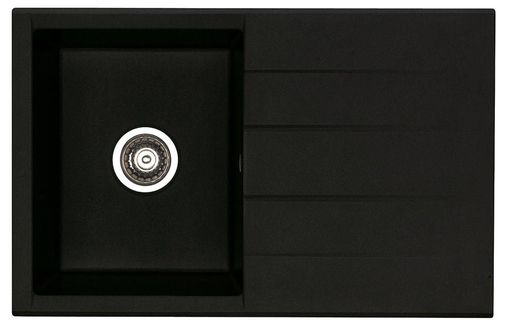 Dřez rovný Cubo 30 - Dřez, včetně sifonu (granit, černá)