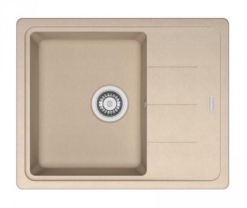 Dřez rovný Franke - dřez Fragranit BFG 611-62, 620x500 (pískový melír)