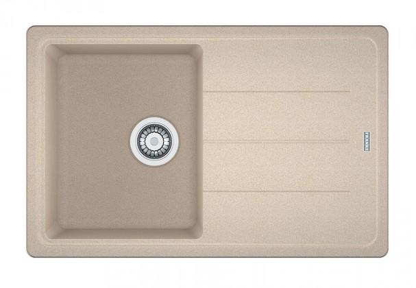 Dřez rovný Franke - dřez Fragranit BFG 611-78, 780x500 (pískový melír)