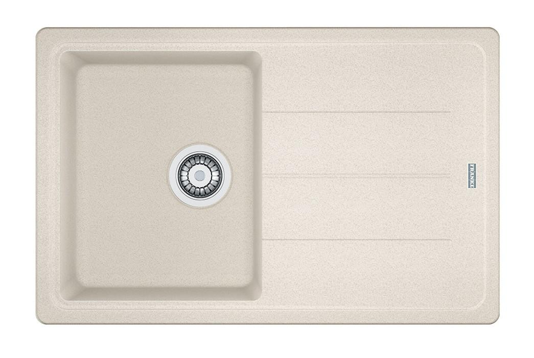 Dřez rovný Franke - dřez Fragranit BFG 611-78, 780x500 (vanilka)