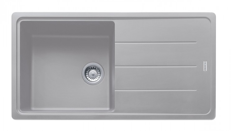 Dřez rovný Franke - dřez Fragranit BFG 611, 970x500 (stříbrná)
