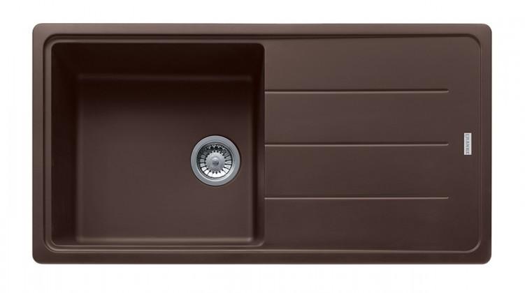 Dřez rovný Franke - dřez Fragranit BFG 611, 970x500 (tmavě hnědá)