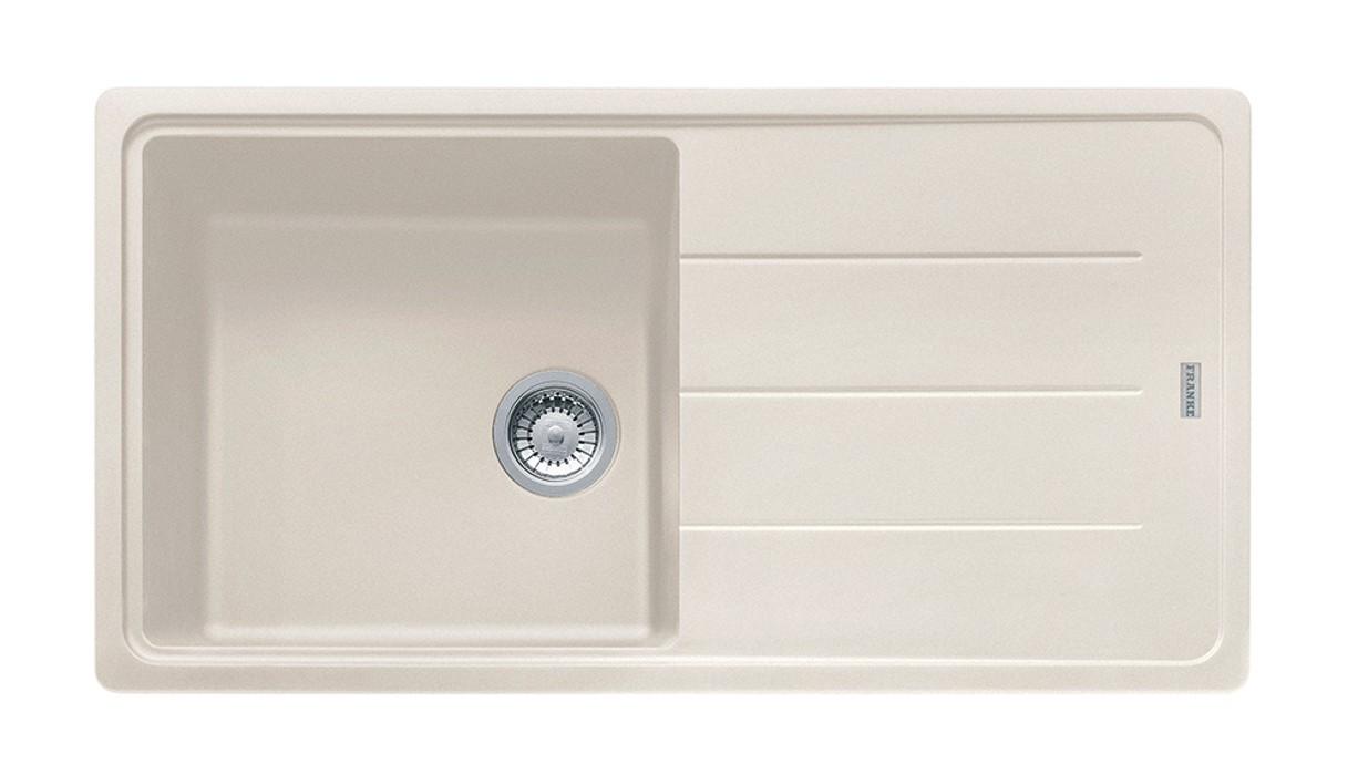 Dřez rovný Franke - dřez Fragranit BFG 611, 970x500 (vanilka)
