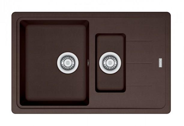 Dřez rovný Franke - dřez Fragranit BFG 651-78, 780x480 (tmavě hnědá)