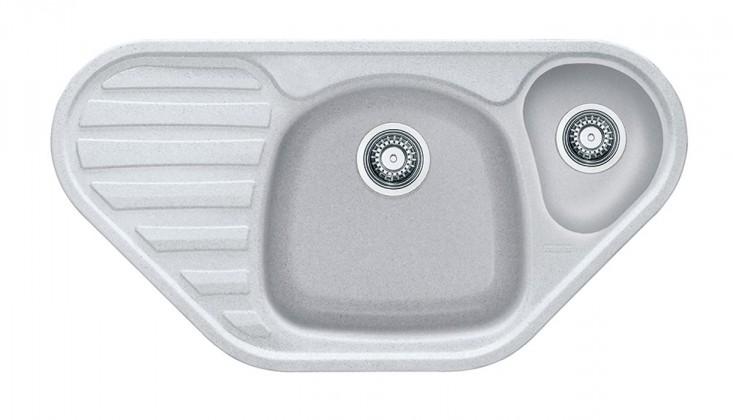 Dřez rovný Franke - dřez Fragranit COG 651 E, 960x500 (bílá-led)