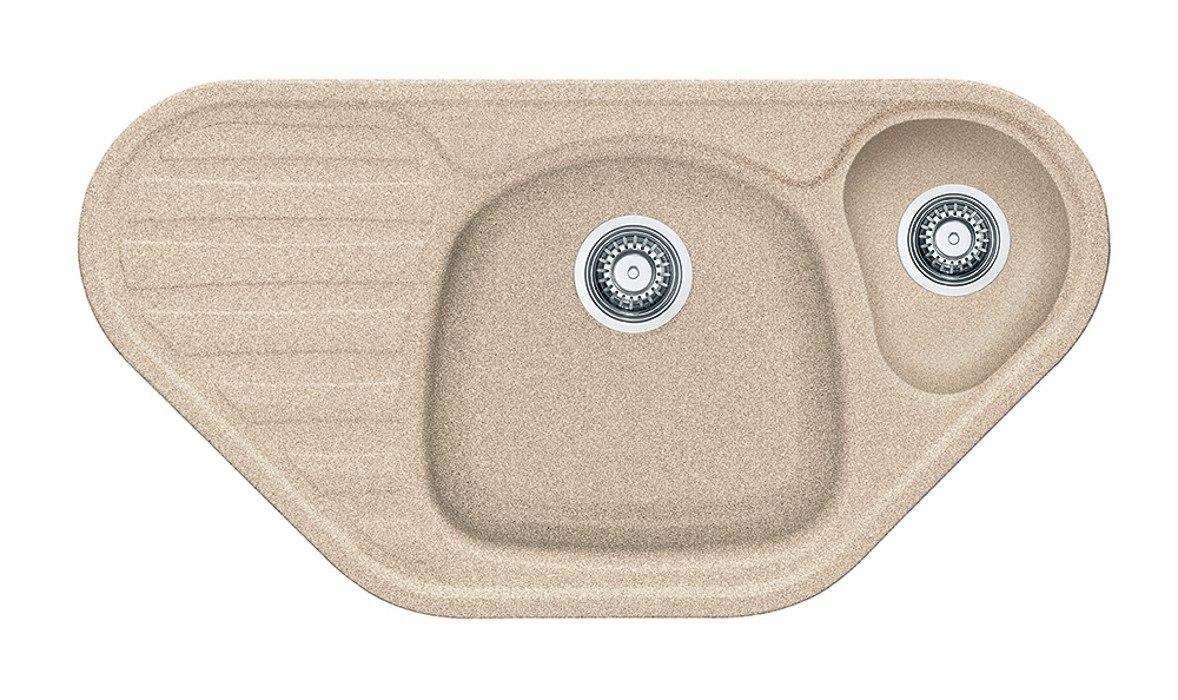 Dřez rovný Franke - dřez Fragranit COG 651 E, 960x500 (pískový melír)
