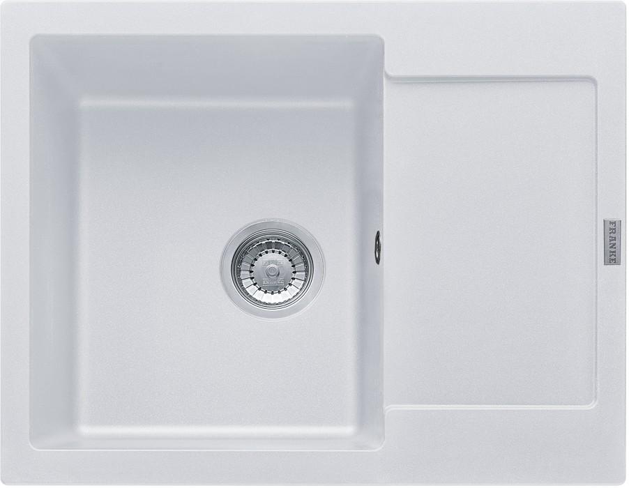 Dřez rovný Franke - dřez Fragranit MRG 611-62, 620x500, (bílá-led)