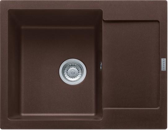 Dřez rovný Franke - dřez Fragranit MRG 611-62, 620x500 (tmavě hnědá)