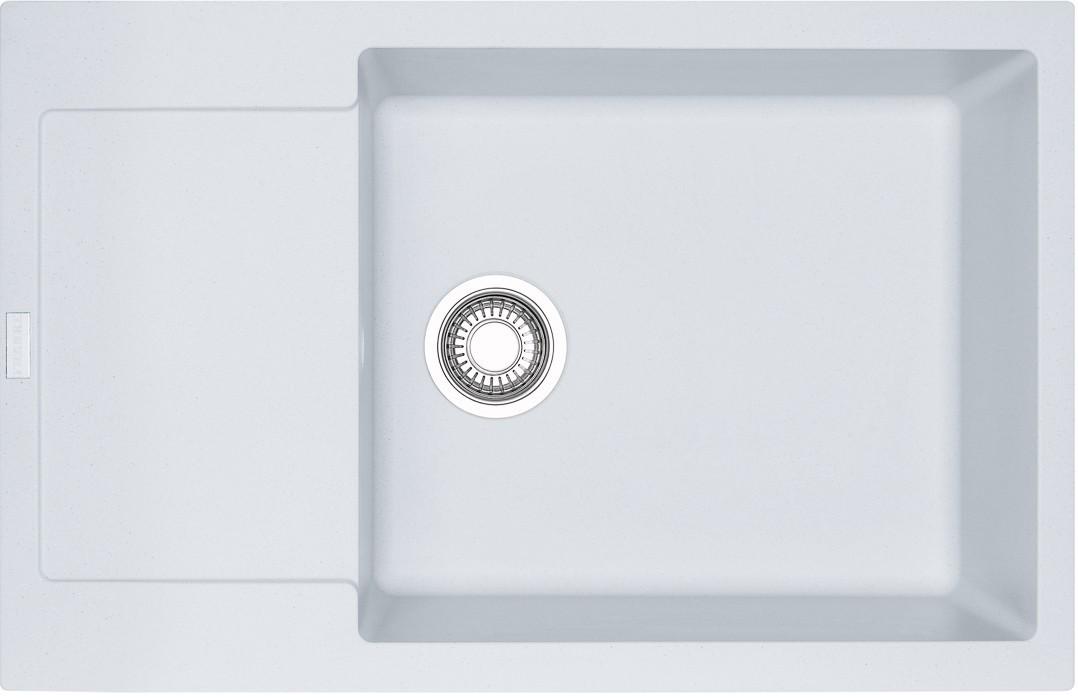 Dřez rovný Franke - dřez Fragranit MRG 611-78 BB, 780x500 (bílá-led)