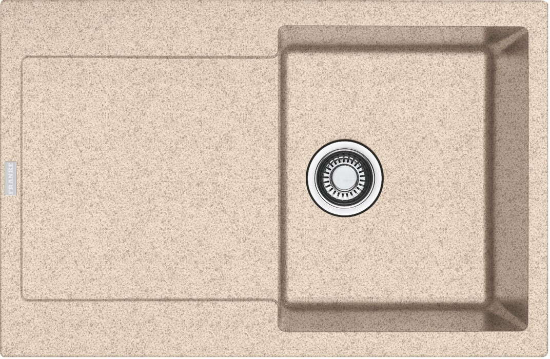 Dřez rovný Franke - dřez Fragranit MRG 611, 780x500 (pískový melír)
