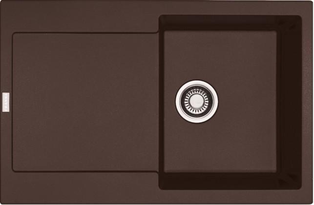 Dřez rovný Franke - dřez Fragranit MRG 611, 780x500 (tmavě hnědá)