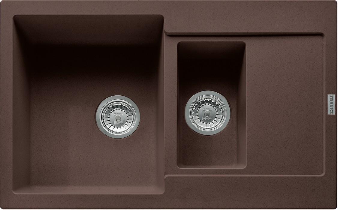 Dřez rovný Franke - dřez Fragranit MRG 651-78, 780x500 (tmavě hnědá)