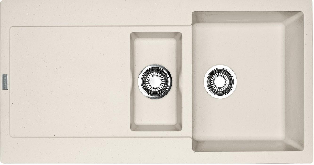 Dřez rovný Franke - dřez Fragranit MRG 651, 970x500 (vanilka)