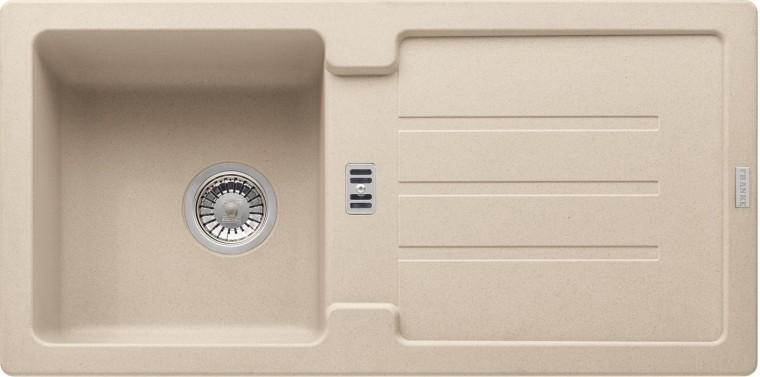 Dřez rovný Franke - dřez Fragranit STG 614, 860x435mm (pískový melír)