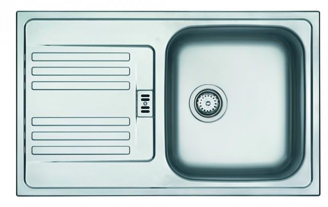 """Dřez rovný Franke - dřez nerez EFN 614-78 3 1/2"""", 780x475 mm (stříbrná)"""
