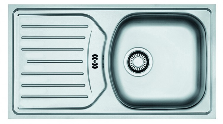 "Dřez rovný Franke - dřez nerez ETN 614 N ETHOS 3 1/2"", 780x435 (stříbrná)"