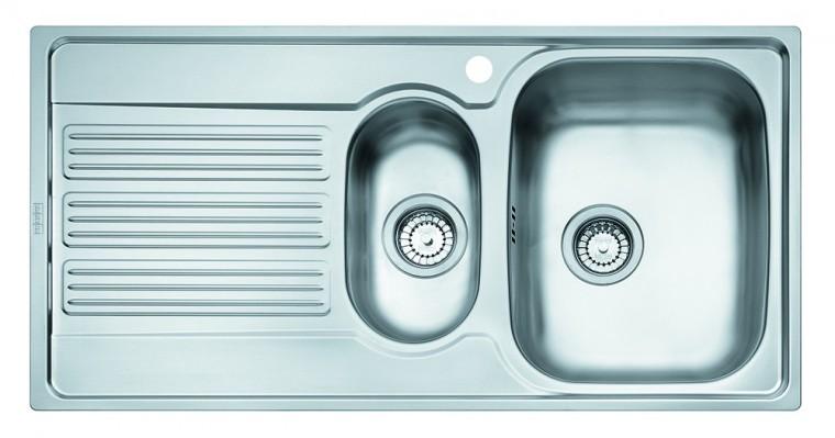 """Dřez rovný Franke - dřez nerez GOX 651 7 3 1/2"""", 1000x510 mm (stříbrná)"""