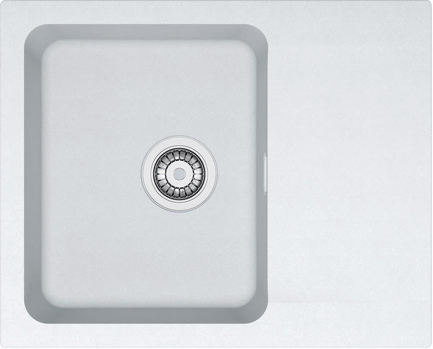 Dřez rovný Franke - dřez Tectonite OID 611-62, 620x500 mm (bílá)