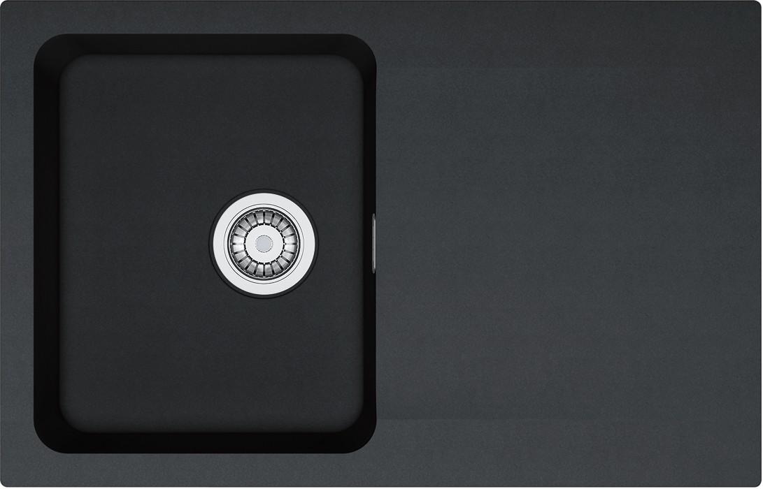 Dřez rovný Franke - dřez Tectonite OID 611-78, 780x500 mm (černá)