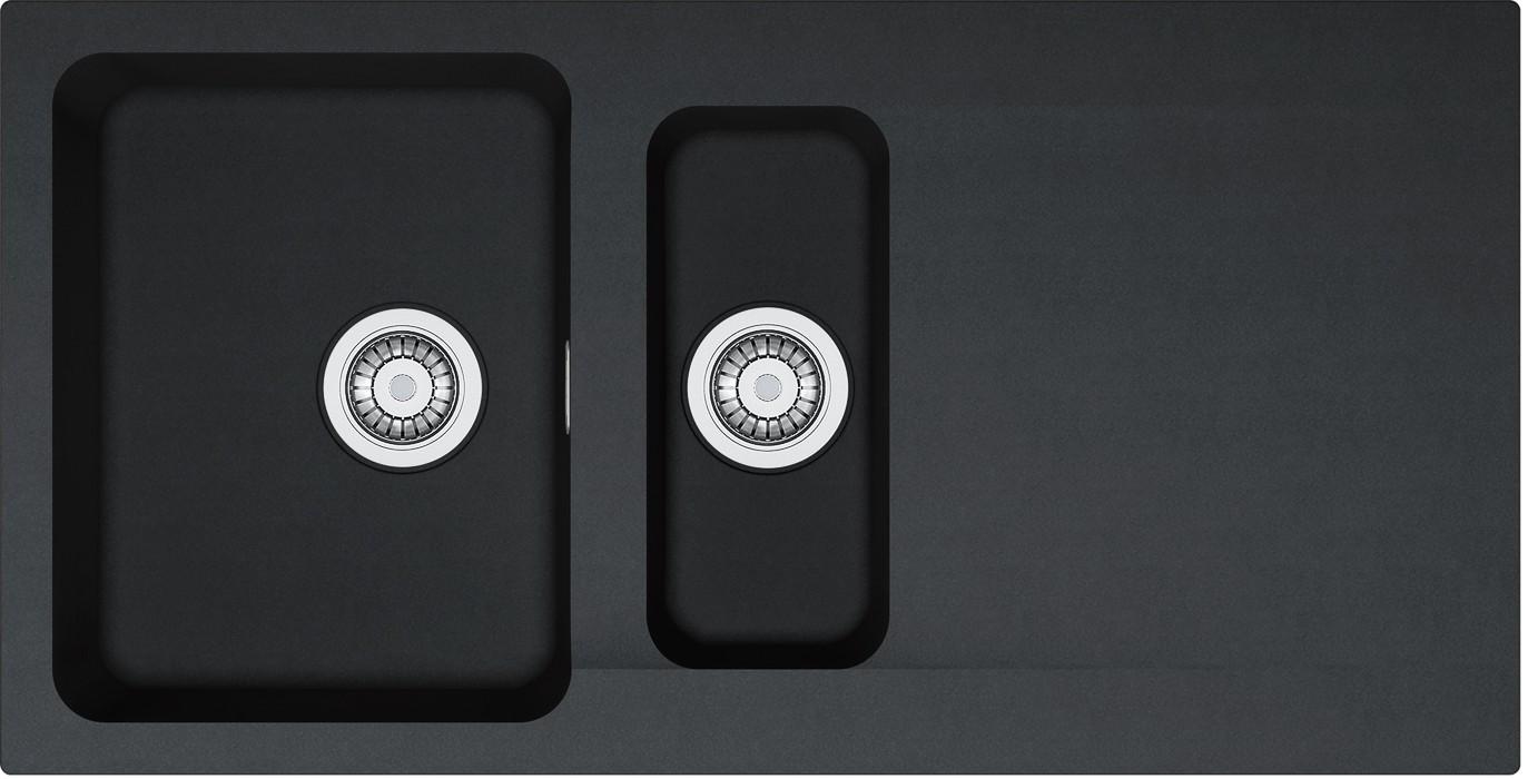 Dřez rovný Franke - dřez Tectonite OID 651, 1000x510 mm (černá)