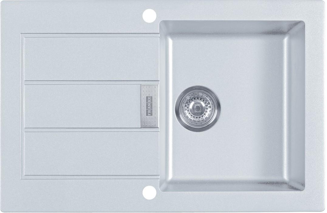 Dřez rovný Franke - dřez Tectonite SID 611-78, 780x500 mm (bílá)