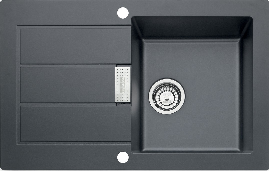 Dřez rovný Franke - dřez Tectonite SID 611-78, 780x500 mm (černá)
