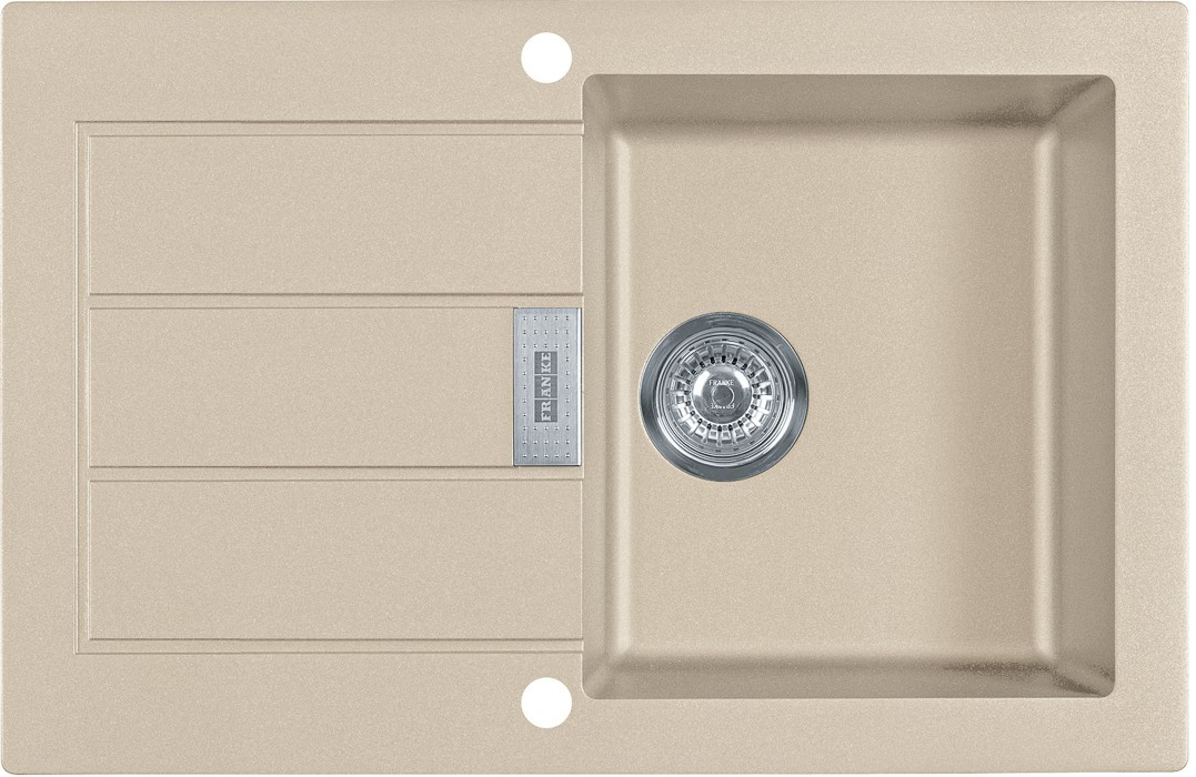 Dřez rovný Franke - dřez Tectonite SID 611-78, 780x500 mm (kávová)