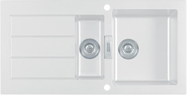 Dřez rovný Franke - dřez Tectonite SID 651, 1000x510 mm (bílá)