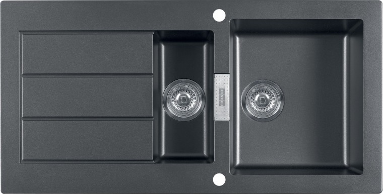Dřez rovný Franke - dřez Tectonite SID 651, 1000x510 mm (černá)