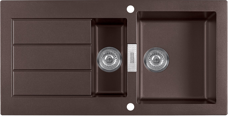 Dřez rovný Franke - dřez Tectonite SID 651, 1000x510 mm (hnědá )