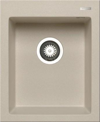 Dřez rovný Istros - Granitový dřez 41x50, 1B, béžová