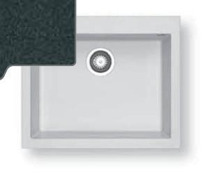 Dřez rovný Pyragranite Tetragon 1B (610x500)