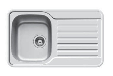 Dřez rovný Space Mini 1B 1D(800x480)