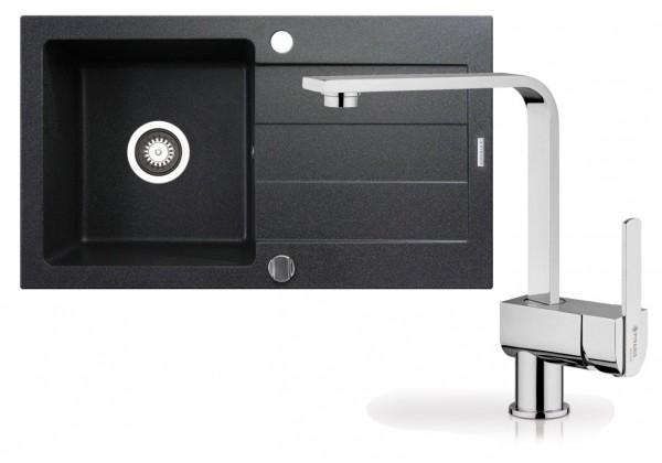 Dřezový set R2 - dřez Sparta 76x44 + Espressivo (černá)