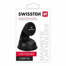 Držák do auta Swissten M1, magnetický úchyt, 3M podložka