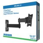 Držák televize valueLINE, kloubový VESA max 200x200, 30kg