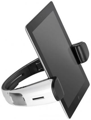 Držáky, stojany CANYON designový BT+NFC reproduktor - stojan na tablet, bílý