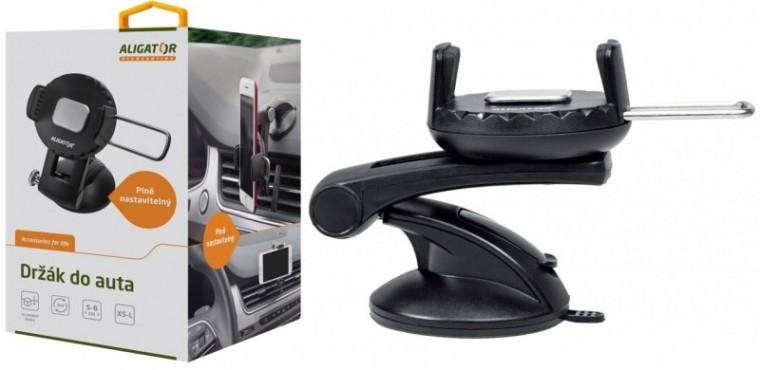 Držáky, stojany Držák do auta Aligator HA3, otočný 360°, automatický úchyt