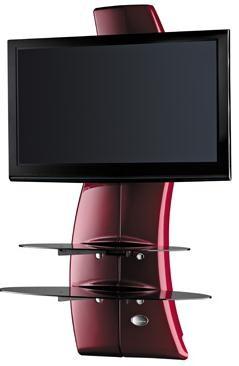 Držáky TV Držák televize MELICONI GHOST, VESA max 400x400,30kg, červený